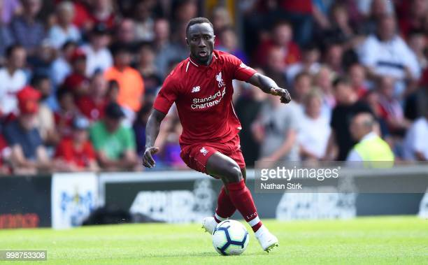 Naby Keita of Liverpool controls the ball during a preseason friendly match between Bury and Liverpool at Gigg Lane on July 14 2018 in Bury England
