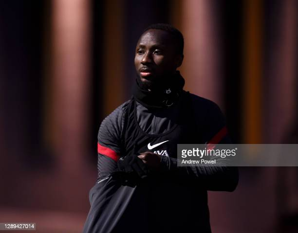 Naby Keita of Liverpool during a training session at AXA Training Centre on December 04, 2020 in Kirkby, England.