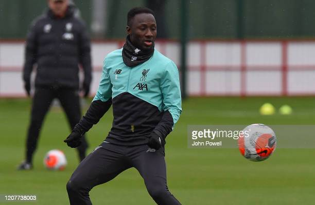 Naby Keita of Liverpool during a training session at Melwood Training Ground on February 21 2020 in Liverpool England