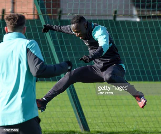 Naby Keita of Liverpool during a training session at Melwood Training Ground on February 26 2020 in Liverpool England