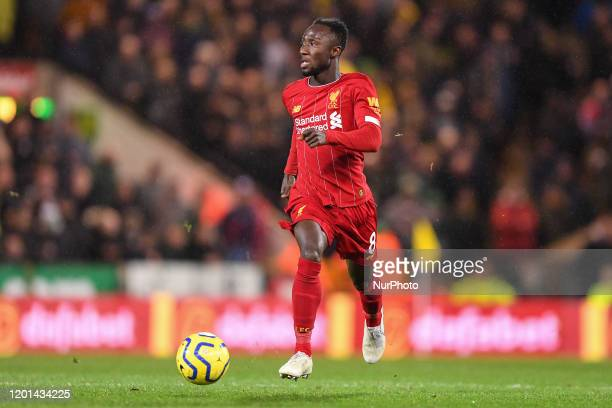 Naby Keita of Liverpool during the Premier League match between Norwich City and Liverpool at Carrow Road Norwich on Saturday 15th February 2020