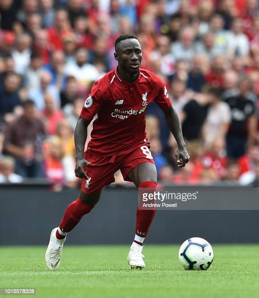 Naby Keita of Liverpool during the Premier League match between Liverpool FC and West Ham United at Anfield on August 12 2018 in Liverpool United...