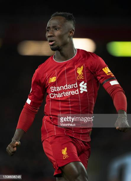 Naby Keita of Liverpool during the Premier League match between Liverpool FC and West Ham United at Anfield on February 24 2020 in Liverpool United...