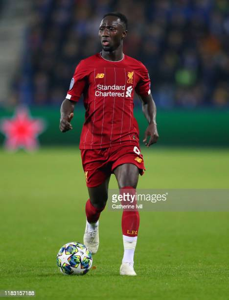 Naby Keita of Liverpool during the UEFA Champions League group E match between KRC Genk and Liverpool FC at Luminus Arena on October 23, 2019 in...