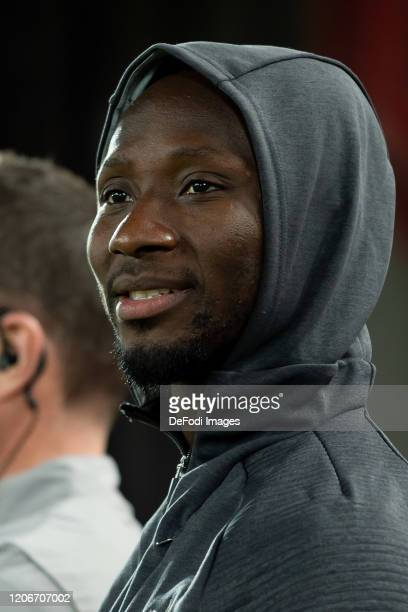 Naby Keita of Liverpool FC looks on prior to the UEFA Champions League round of 16 second leg match between Liverpool FC and Atletico Madrid at...