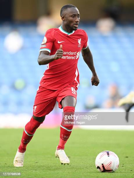 Naby Keita of Liverpool in action during the Premier League match between Chelsea and Liverpool at Stamford Bridge on September 20, 2020 in London,...