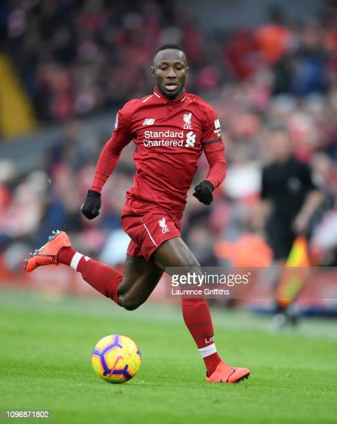 05d7665d1e4 Naby Keita of Liverpool runs with the ball during the Premier League match  between Liverpool FC