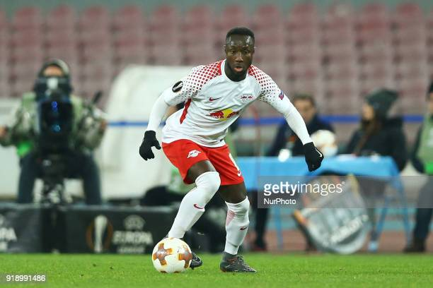 Naby Keita of RB Leipzig during UEFA Europa League Round of 32 match between Napoli and RB Leipzig at the Stadio San Paolo on February 15 2018 in...
