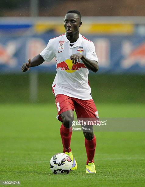 Naby Keita of Red Bull Salzburg controls the ball during the friendly match between Red Bull Salzburg and West Brom on July 8 2015 in Schladming...