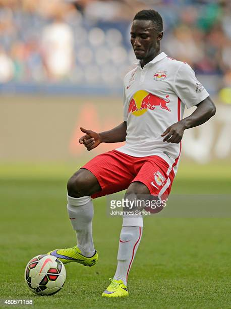 Naby Keita of Salzburg in action during the preseason match for the 3rd place between FC Red Bull Salzburg and Southampton FCas part of the Audi...