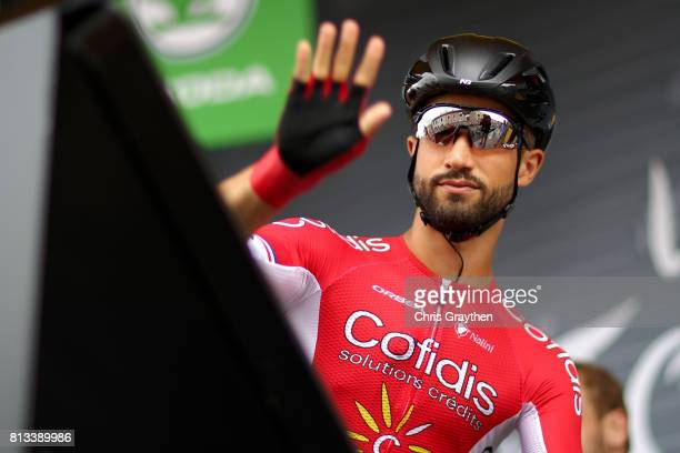 Nacer Bouhanni of France riding for Confidis Solutions Credits signs in during stage 11 of the 2017 Le Tour de France a 2035km stage from Eymet to...