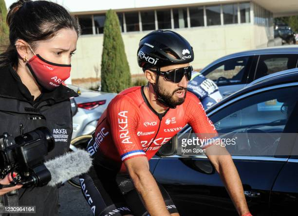 Nacer Bouhanni of Team Arkea - Samsic during the Stage 1 of Etoile de Besseges from Bellegarde to Bellegarde on February 3, 2021 in Nimes, France.