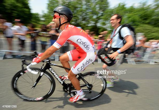 Nacer Bouhanni of team COFIDIS SOLUTIONS CREDITS takes 1st place during Stage Two of the Criterium du Dauphine on June 8 2015 in Le Bourget du Lac...