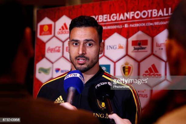 Nacer Chadli midfielder of Belgium picture during the press conference of the Red Devils at the national training center on November 11 2017 in...
