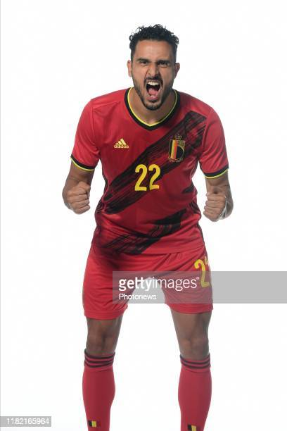 Nacer Chadli midfielder of Belgium pictured during a photo session presenting the new jersey of the Belgian National Football Team prior to the Euro...