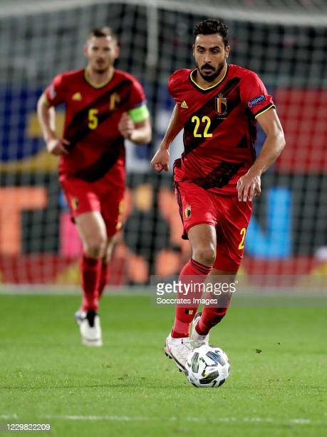 Nacer Chadli of Belgium during the UEFA Nations league match between Belgium v Denmark at the King Baudouin Stadium on November 18, 2020 in Brussel...