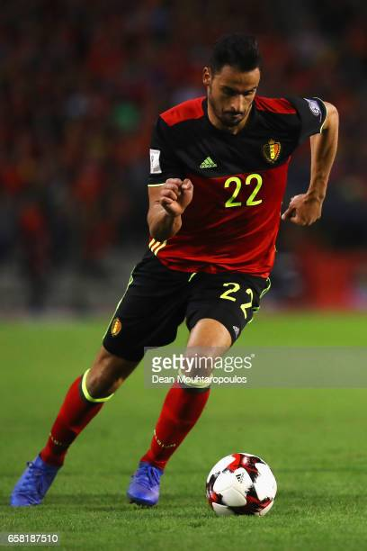 Nacer Chadli of Belgium in action during the FIFA 2018 World Cup Group H Qualifier match between Belgium and Greece at Stade Roi Baudouis on March 25...
