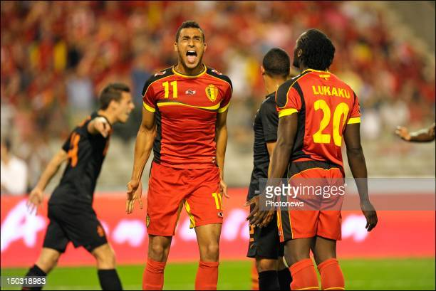 Nacer Chadli of Belgium looks dejected during a FIFA international friendly match between Belgium and The Netherlands at the King Baudouin stadium...