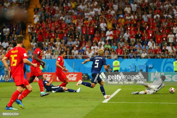Nacer Chadli of Belgium scores a goal to make it 32 during the 2018 FIFA World Cup Russia Round of 16 match between Belgium and Japan at Rostov Arena...
