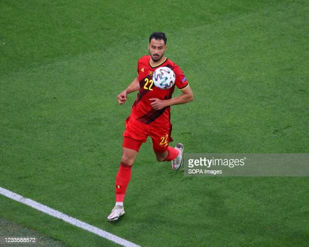 Nacer Chadli of Belgium seen in action during the European championship EURO 2020 between Belgium and Finland at Gazprom Arena. .