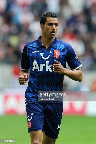 Nacer Chadli of FC Twente looks on during the Eridivisie match between Ajax Amsterdam and FC Twente at the Amsterdam Arena on May 15 2010 in...
