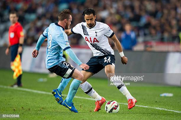 Nacer Chadli of Hotspur in action during the friendly match between Sydney FC and the Tottenham Hotspur at ANZ stadium in Sydney NSW Australia 30th...