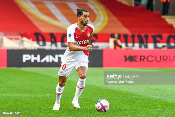 Nacer Chadli of Monaco during the Ligue 1 match between Monaco and Rennes at Stade Louis II on October 7 2018 in Monaco Monaco