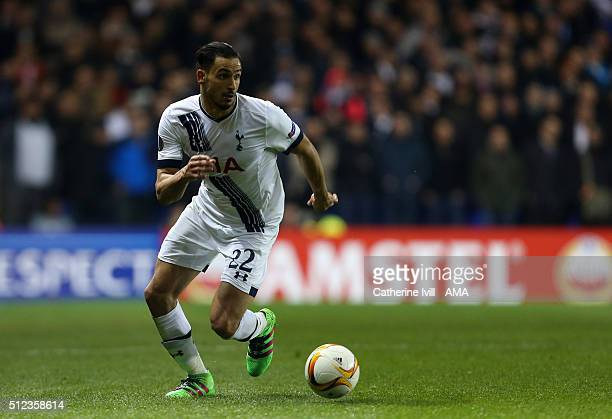Nacer Chadli of Tottenham Hotspur during the UEFA Europa League match between Tottenham Hotspur and Fiorentina at White Hart Lane on February 25 2016...