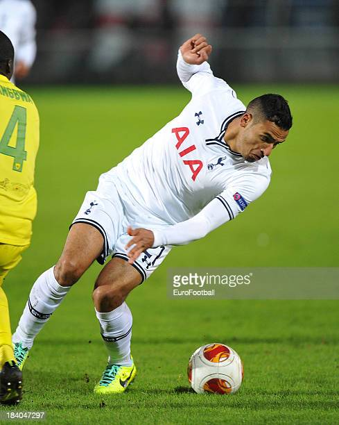 Nacer Chadli of Tottenham Hotspur FC in action during the UEFA Europa League group stage match between FC Anji Makhachkala and Tottenham Hotspur FC...