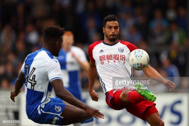 Nacer Chadli of West Bromwich Albion during the Pre Season Friendly match between Bristol Rovers and West Bromwich Albion at Memorial Stadium on July...