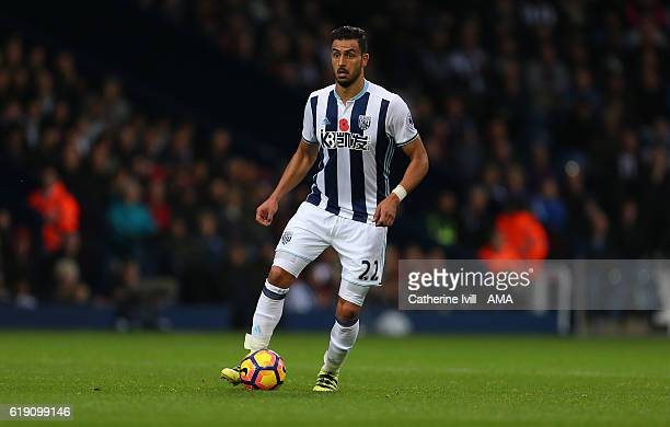 Nacer Chadli of West Bromwich Albion during the Premier League match between West Bromwich Albion and Manchester City at The Hawthorns on October 29...