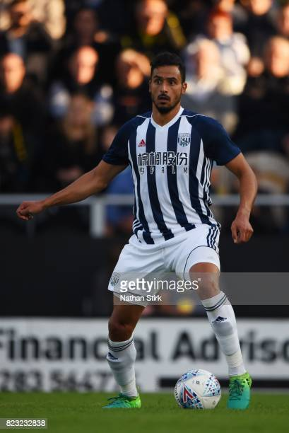 Nacer Chadli of West Bromwich Albion in action during the pre season friendly match between Burton Albion and West Bromwich Albion at Pirelli Stadium...