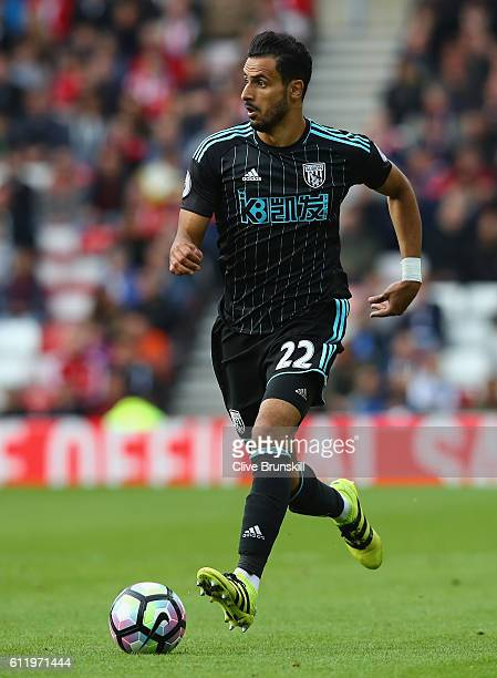 Nacer Chadli of West Bromwich Albion in action during the Premier League match between Sunderland and West Bromwich Albion at Stadium of Light on...