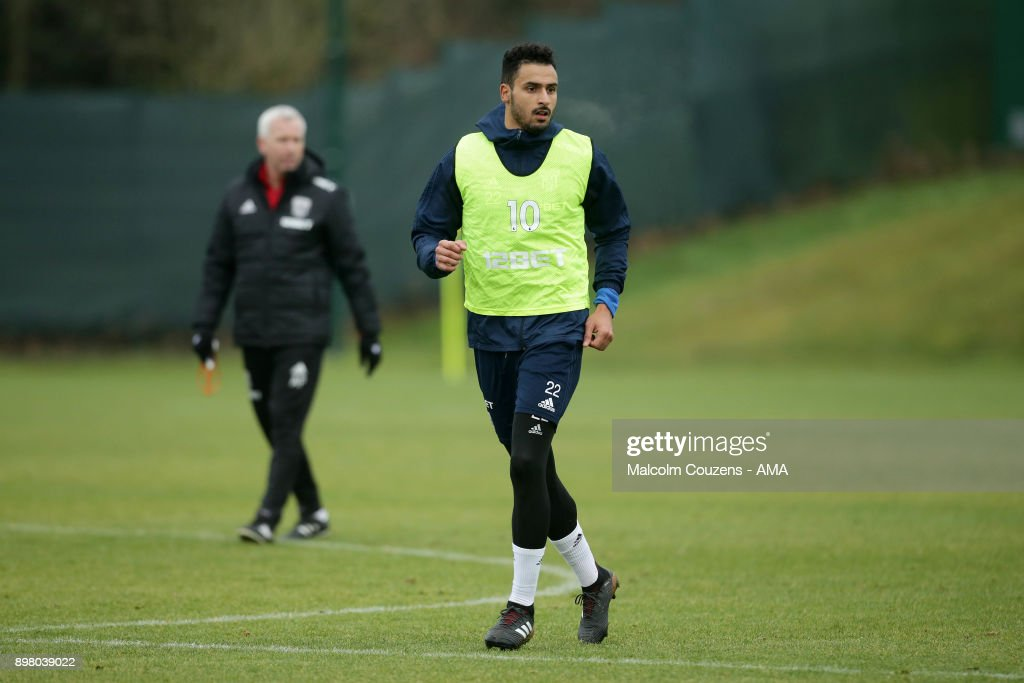 Nacer Chadli of West Bromwich Albion on December 19, 2017 in West Bromwich, England.