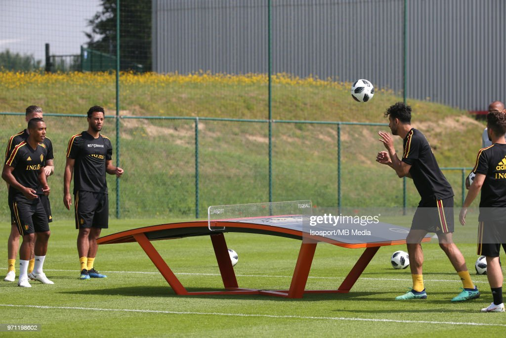 Nacer CHADLI pictured during a training session of the Belgian national soccer team ' Red Devils ' at the Belgian National Football Center, as part of preparations for the 2018 FIFA World Cup in Russia, on June 4, 2018 in Tubize, Belgium. Photo by Vincent Van Doornick - Isosport