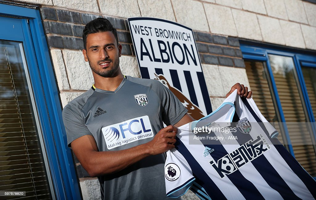 West Bromwich Albion Unveil New Signing Nacer Chadli : News Photo