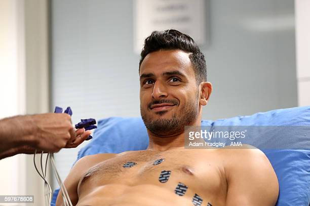 Nacer Chadli undergoes a medical as he signs for WBA at West Bromwich Albion Training Ground on August 29 2016 in Walsall England