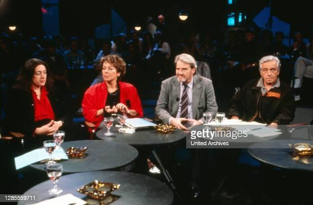 Nach 9, älteste deutsche TV Talkshow, Sendung vom 20. Mai 1990, Talkgast: Monika Griefahn, Juliane Bartel, Gerd Ruge, Sergiu Nicolaescu.