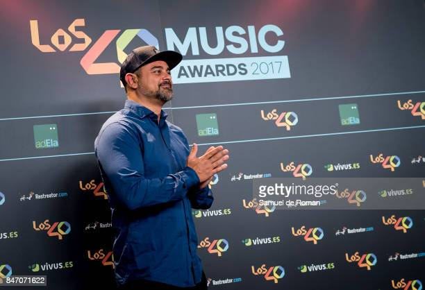 Nach attends 40 Principales Awards candidates dinner 2017 on September 14 2017 in Madrid Spain
