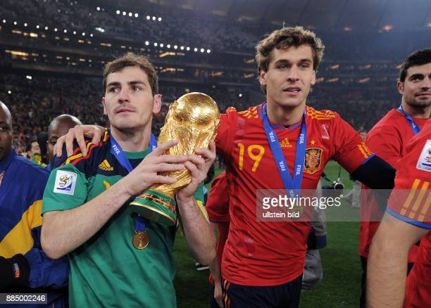 Suedafrika Gauteng / Transvaal Johannesburg FIFA FussballWM Suedafrika 2010 Finale Niederlande Spanien 01 nach Verlaengerung Spaniens Torhueter Iker...