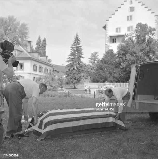 Bergung der Leiche des USBomberpiloten Greifensee 1953