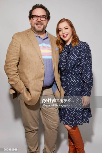 Nacho Aguirre and Alyson Hannigan of Food Network's Girl Scout Cookie Championship pose for a portrait at the 2020 Winter TCA Portrait Studio at The...