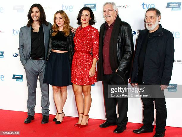 Nacho Aldeguer Maria Cantuel Nani Jimenez guest and Jose Pedro Carrion attend 'Isabel' end of season 3 premiere photocall on November 26 2014 in...