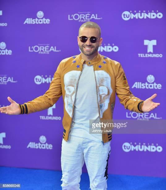 Nacho arrives at Telemundo's 2017 'Premios Tu Mundo' at American Airlines Arena on August 24 2017 in Miami Florida