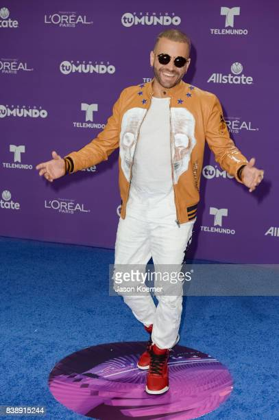 Nacho arrives at Telemundo's 2017 'Premios Tu Mundo' at American Airlines Arena on August 24 2017 in Miami Florida