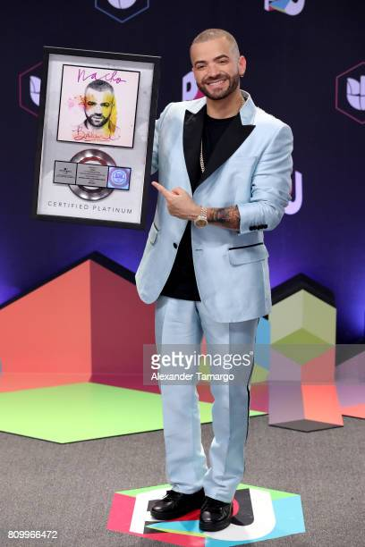 Nacho attends the Univision's 'Premios Juventud' 2017 Celebrates The Hottest Musical Artists And Young Latinos ChangeMakers at Watsco Center on July...