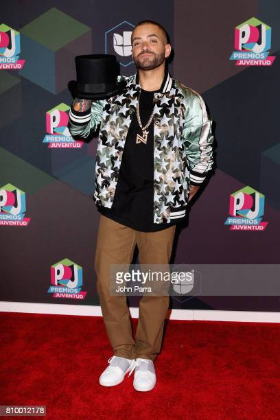 Nacho attends the Univision's 'Premios Juventud' 2017 Celebrates The Hottest Musical Artists And Young Latinos ChangeMakers Media Center at the...