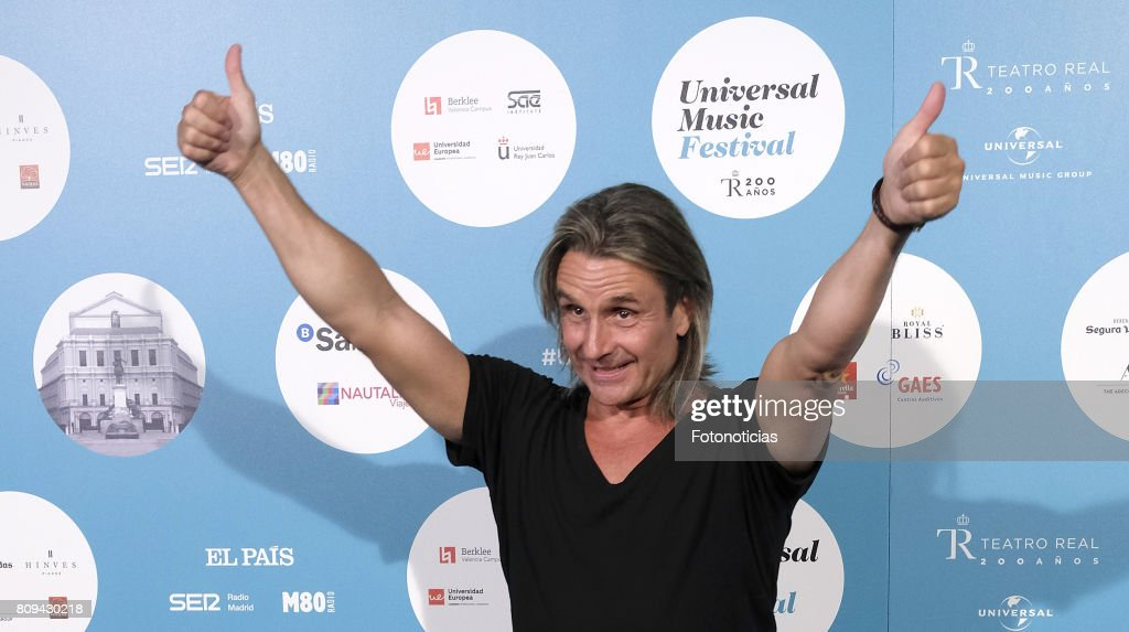 Nacho Cano attends the Universal Music Festival Sting's concert at the Teatro Real on July 5, 2017 in Madrid, Spain.