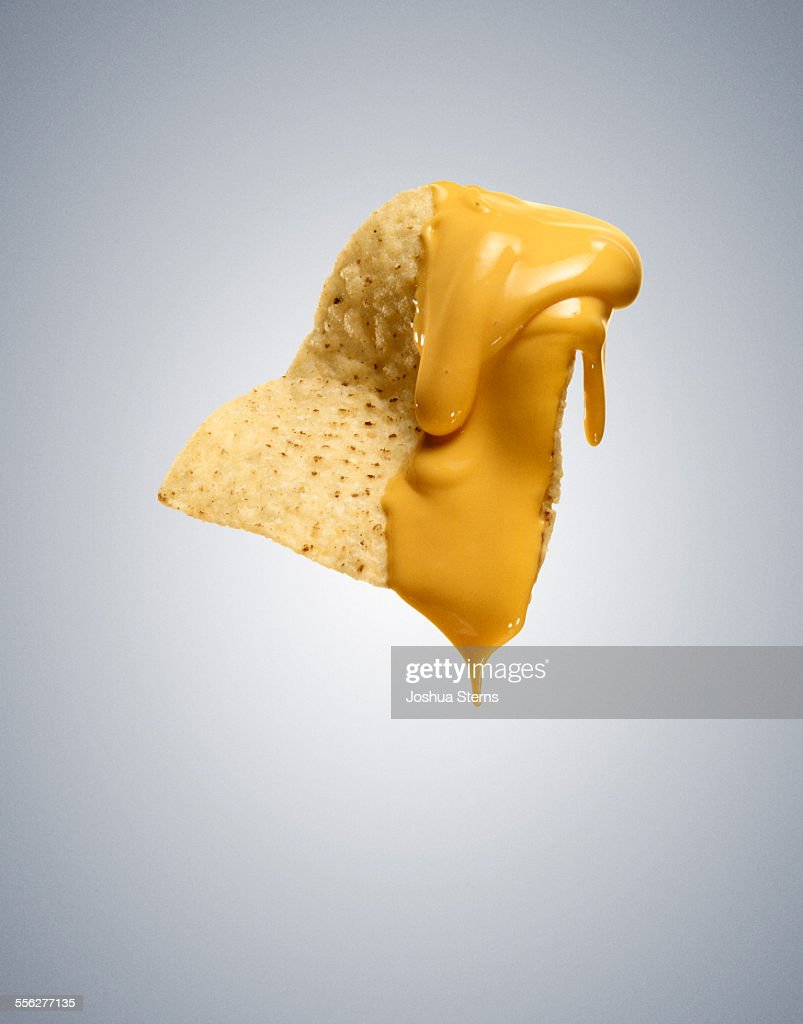 Nacho cheese chip : Stock Photo