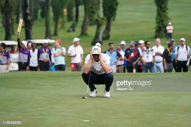 Nacho Elvira of Spain in action during Day Four of the Maybank Championship at Saujana Golf and Country Club on March 24 2019 in Kuala Lumpur Malaysia